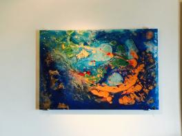 30X24 Glass-RITUAL YOGA ARTS LAGUNA BEACH, CA PRICE $1,800