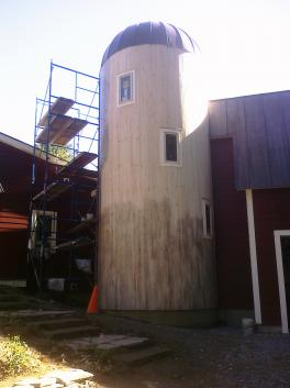 Exterior Faux Painted Silo- Blunt Project