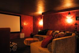 Venetian Plaster in Private Home Theater