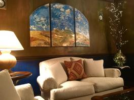 Custom Venetian plaster-Abstract Tuscan landscape-Faux painted Walls