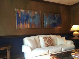 venetian plaster paintings -steel frame Faux painted walls