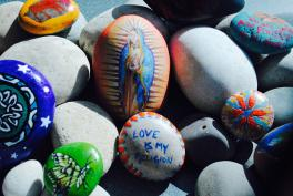 prayer stones- created in Art therapy